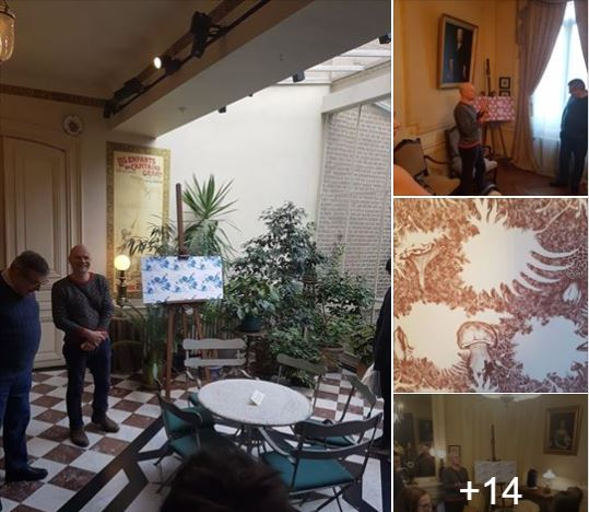Les photos de la présentation de l'exposition